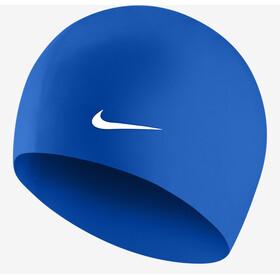 Nike Swim Solid Bonnet de bain en silicone, game royal